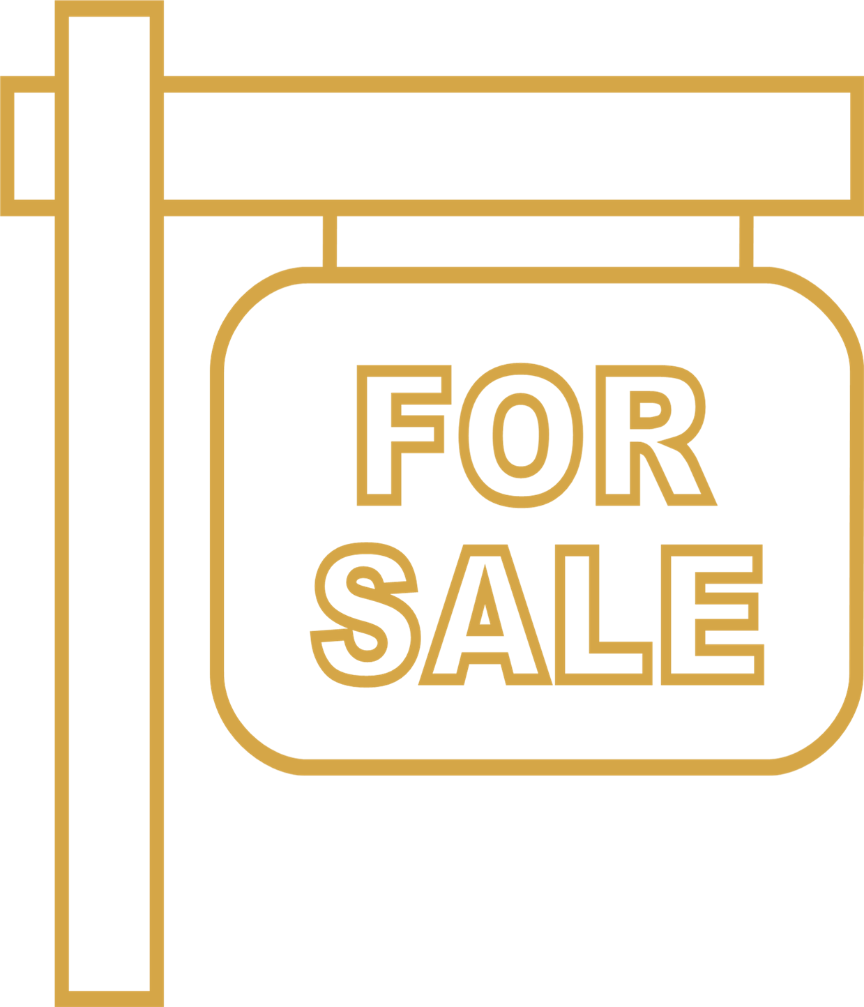 House For sale lawn sign icon