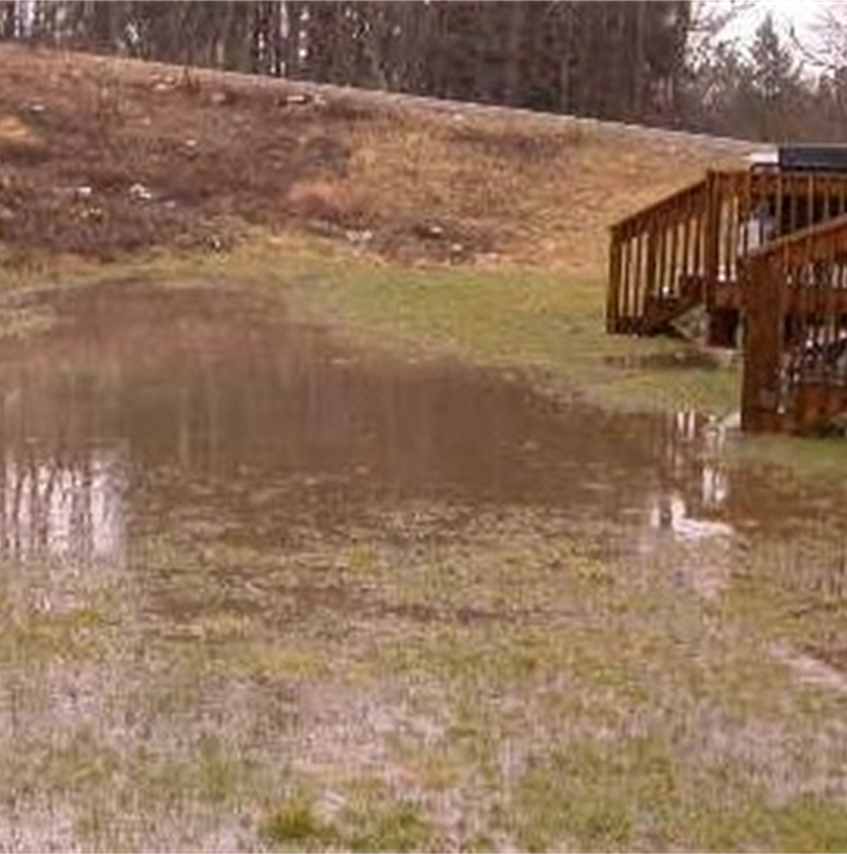 Top Ten House Problems drainage and improper surface grading causing a backyard or the basement to flood