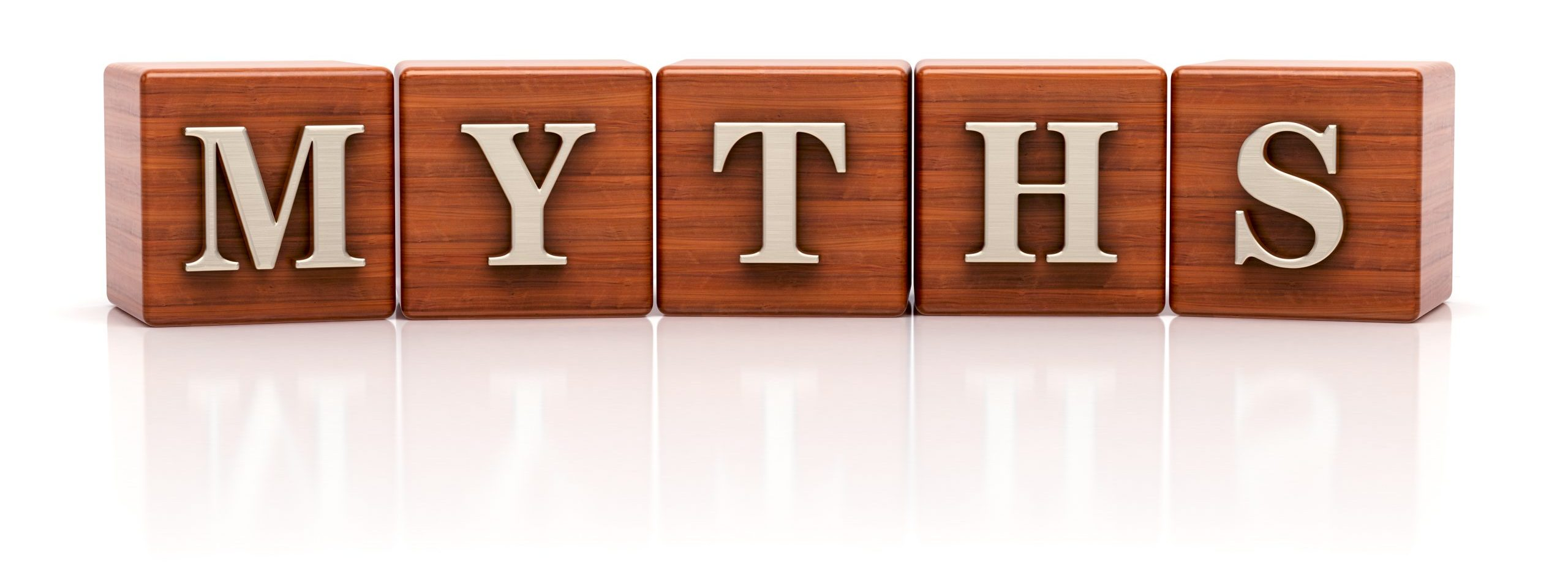 Myths written on wooden cubes